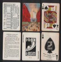 Vintage Collectible playing cards World's Fair Expo  1934
